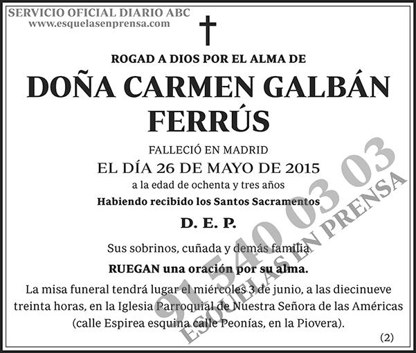 Carmen Garbán Ferrús